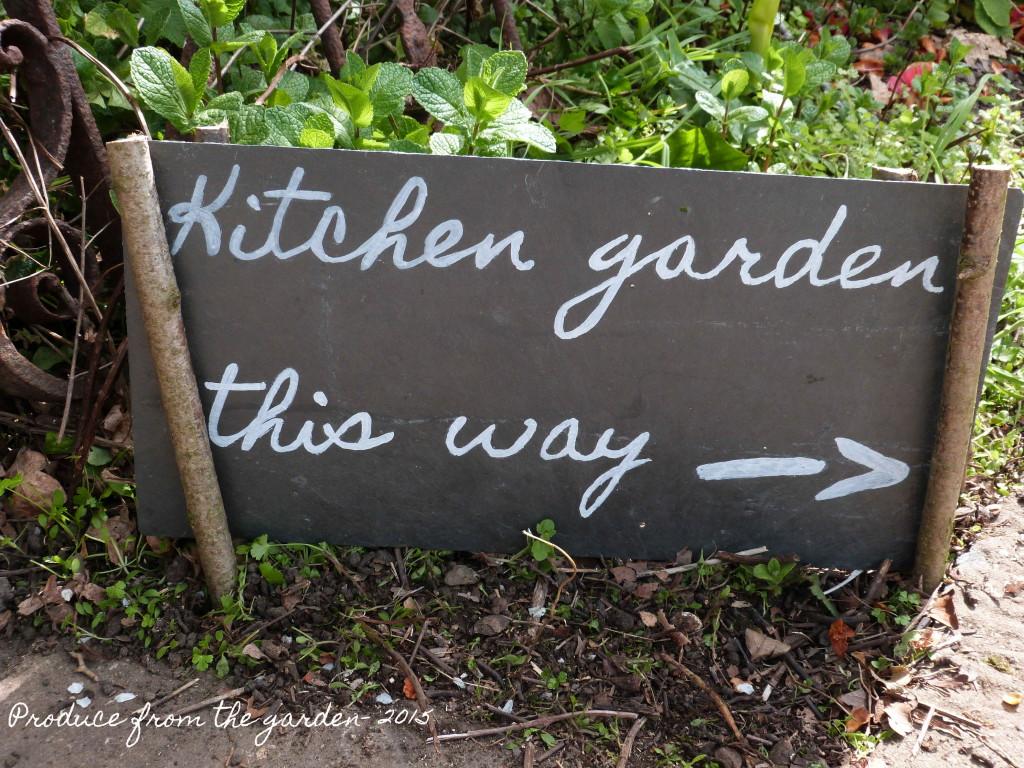 Kitchen garden sign