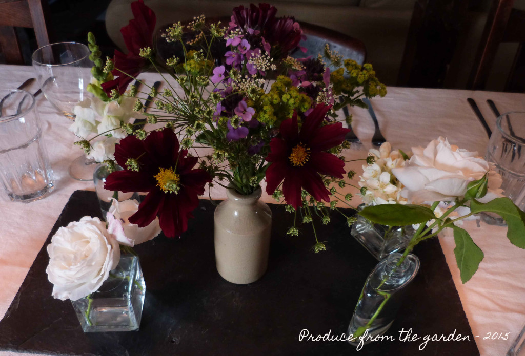 Mixed flower display
