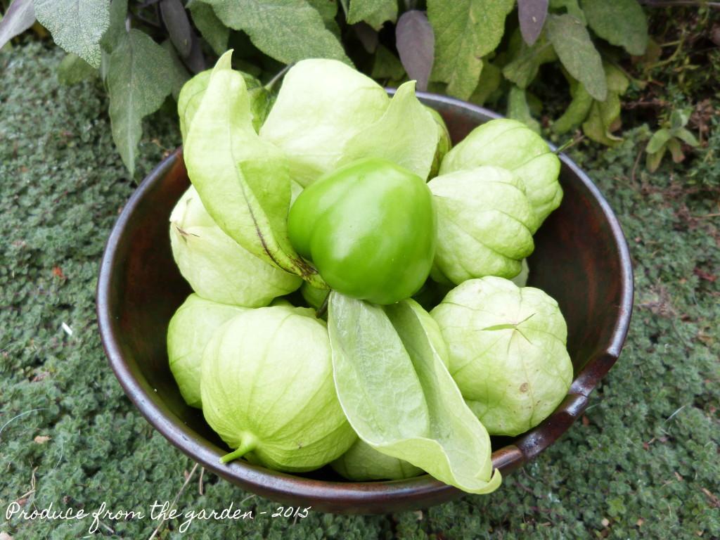 Bowl of tomatillos