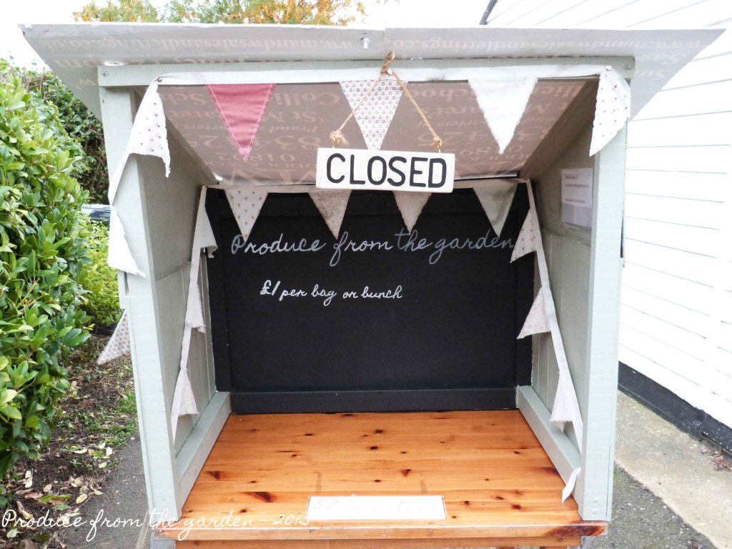 Honesty stall closed