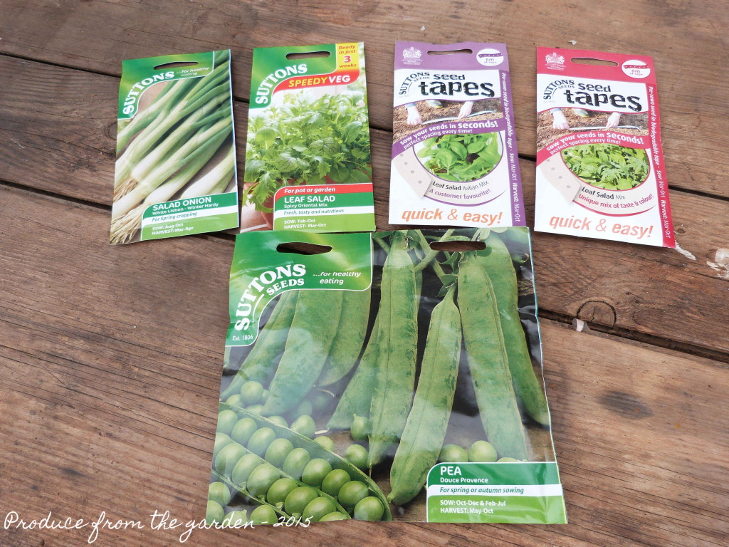 Autumn veg seeds