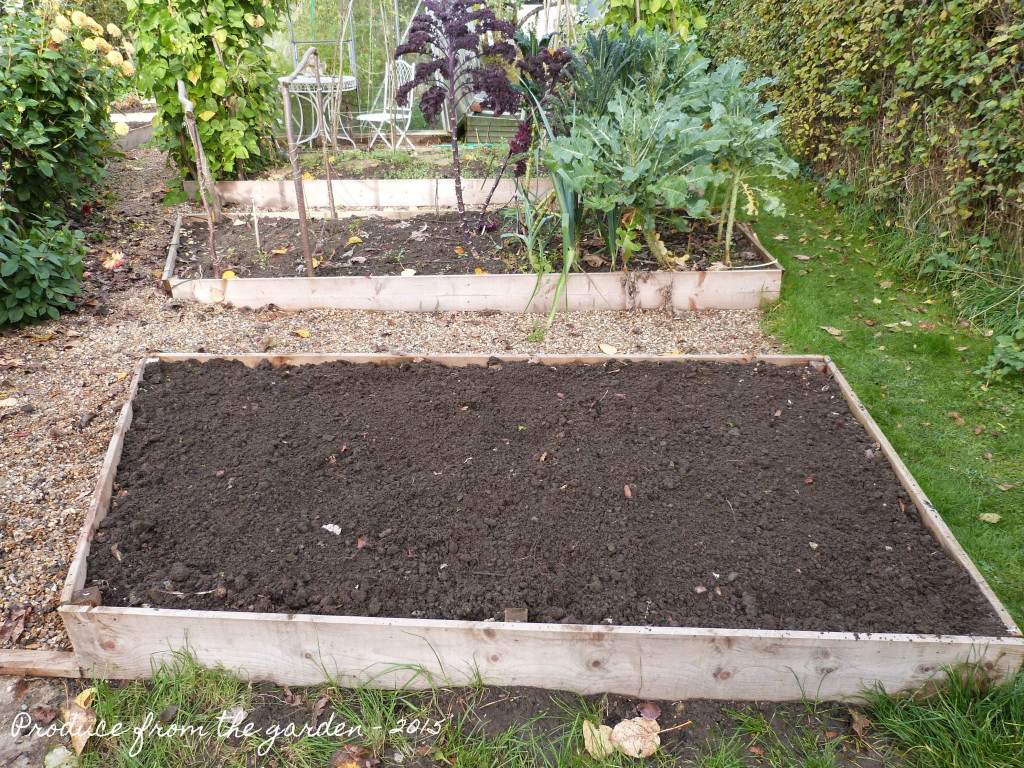 Vegetable bed prepared for green manure seed