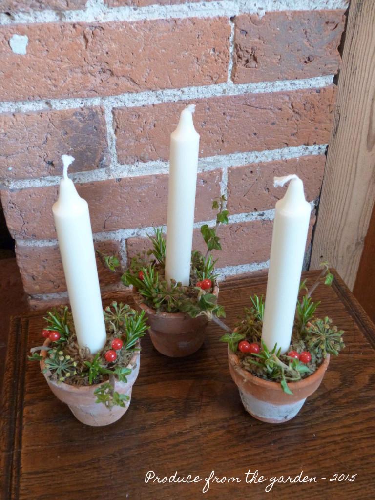 Christmas flower pot decorations