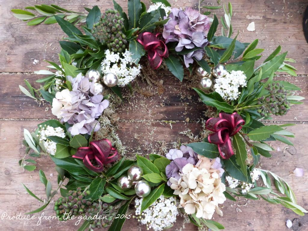 Viburnam Tinus on the wreath