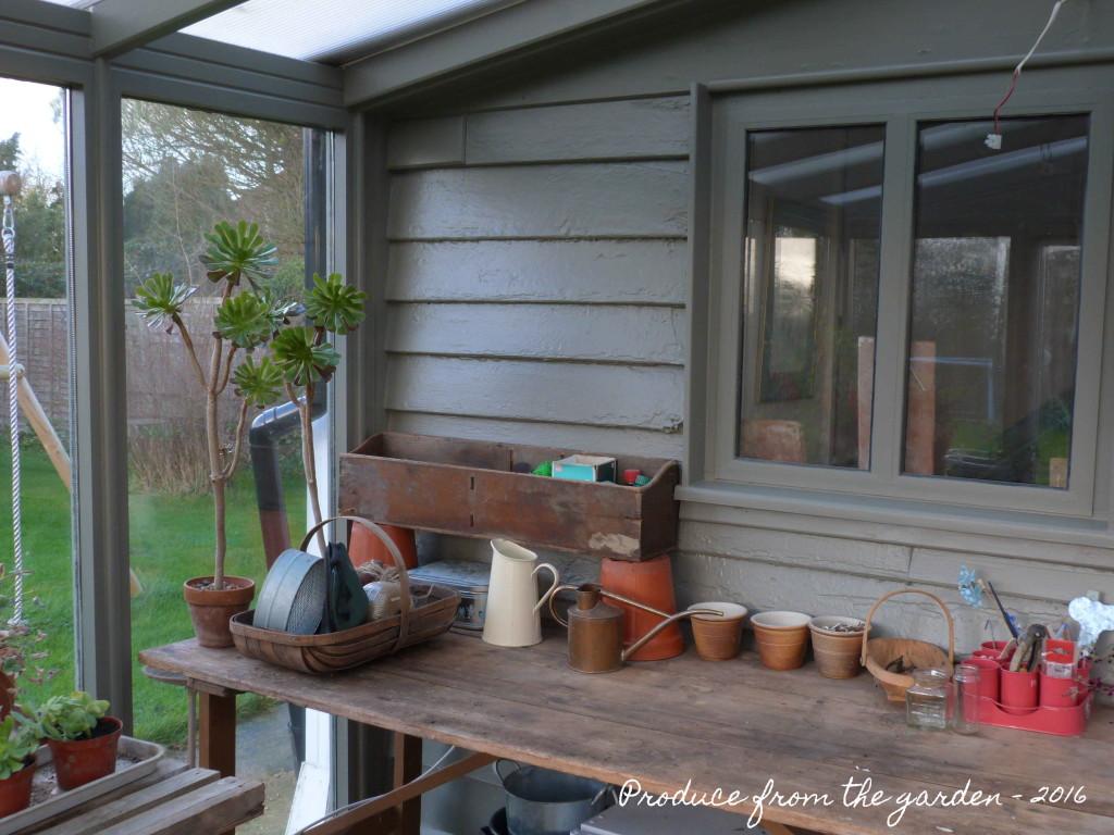Conservatory, potting shed