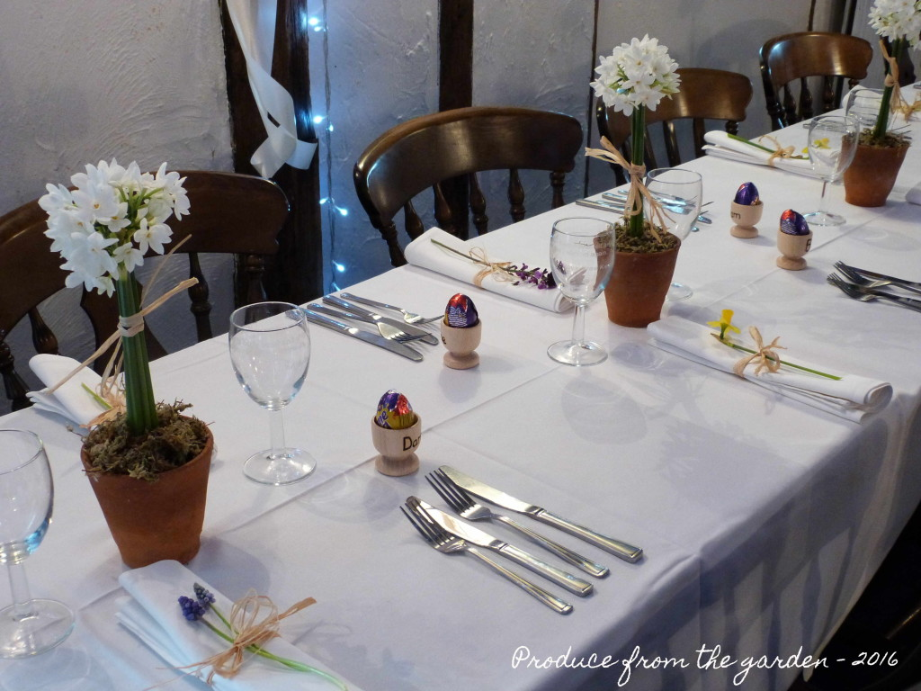 Wedding table close up