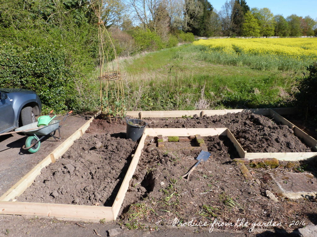 The raised bed frame