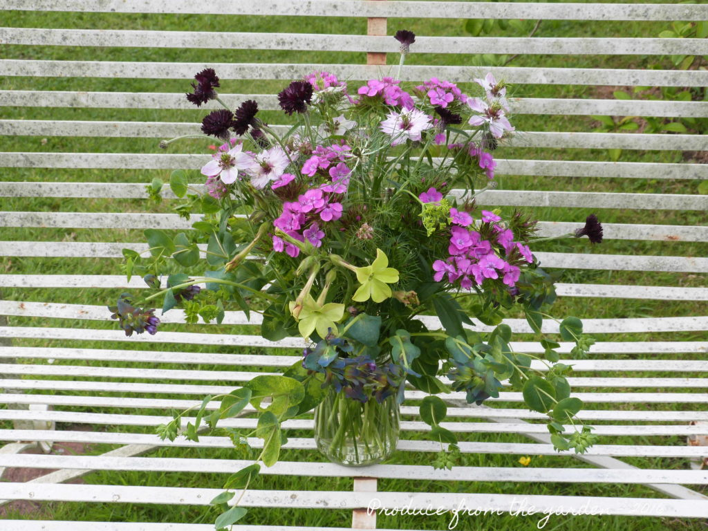 Bunch of flowers from the cutting border