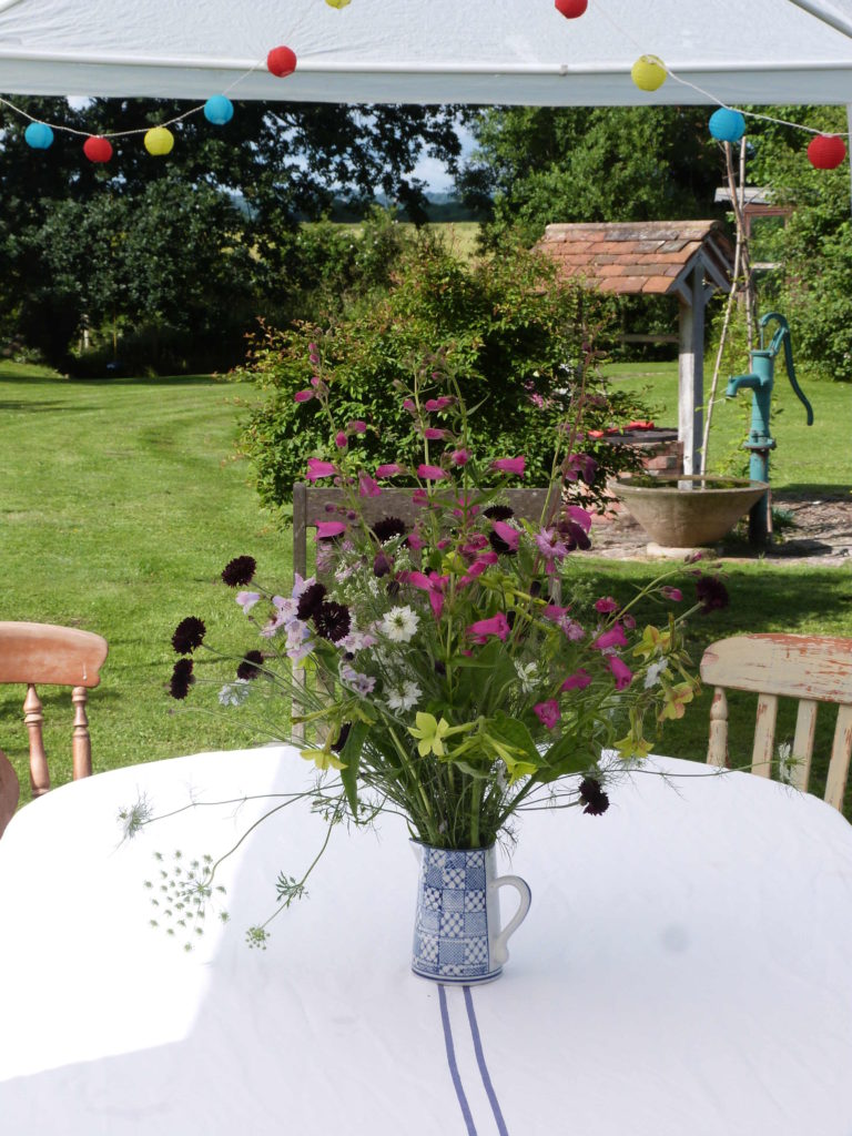 Flowers for a BBQ from the cutting border