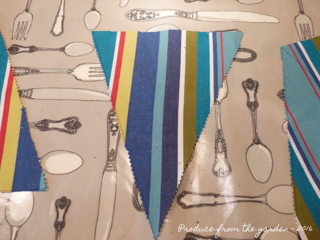 Bunting - the individual cut flags