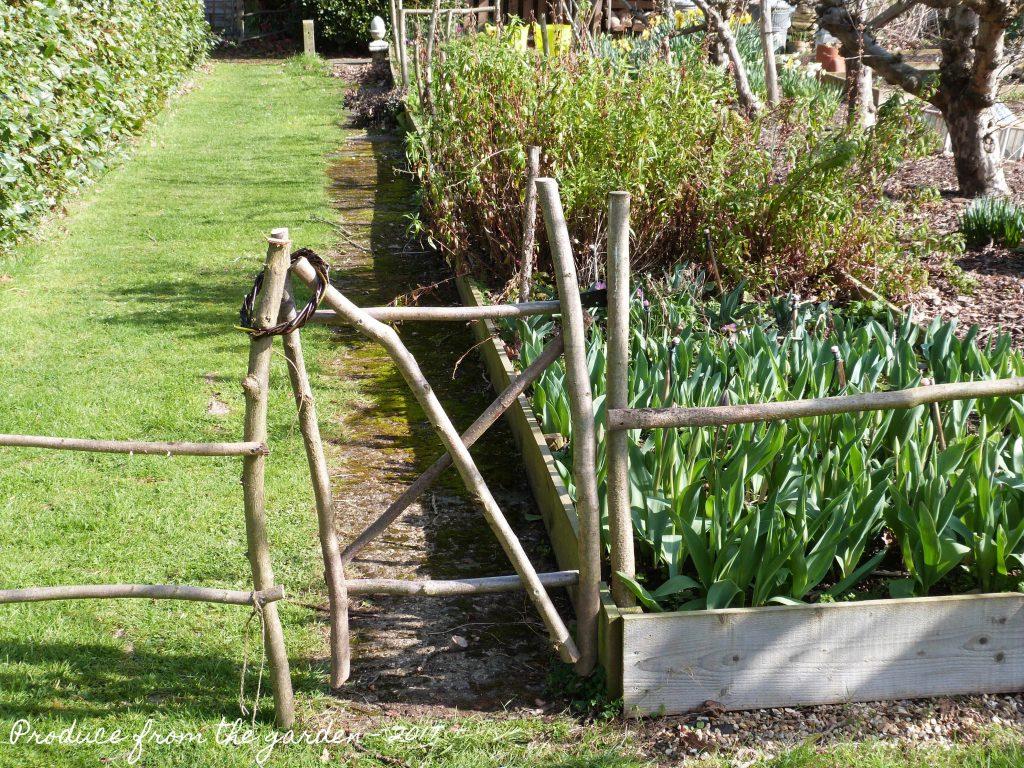 Rustic hazel garden gate