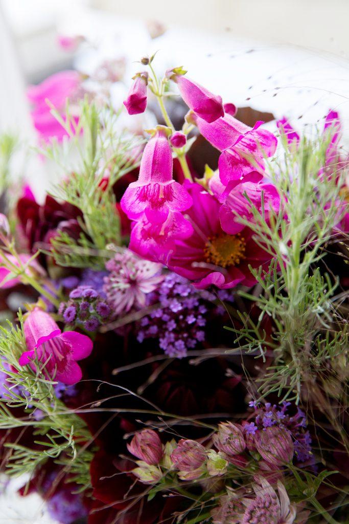Close up Bridemaids bouquet