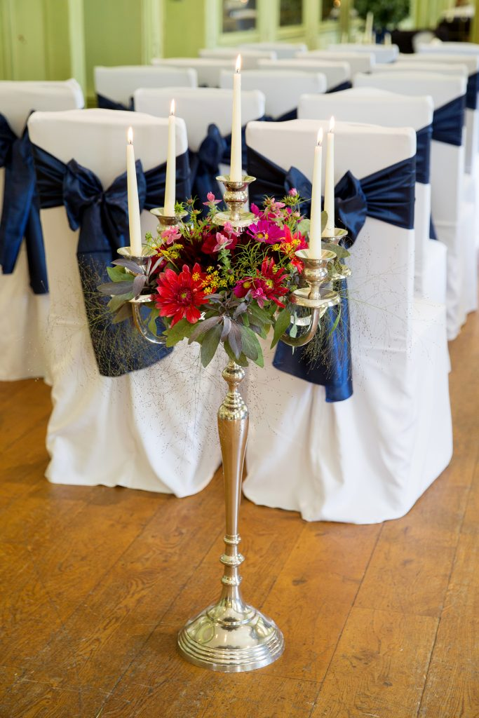 Wedding floor candleabra