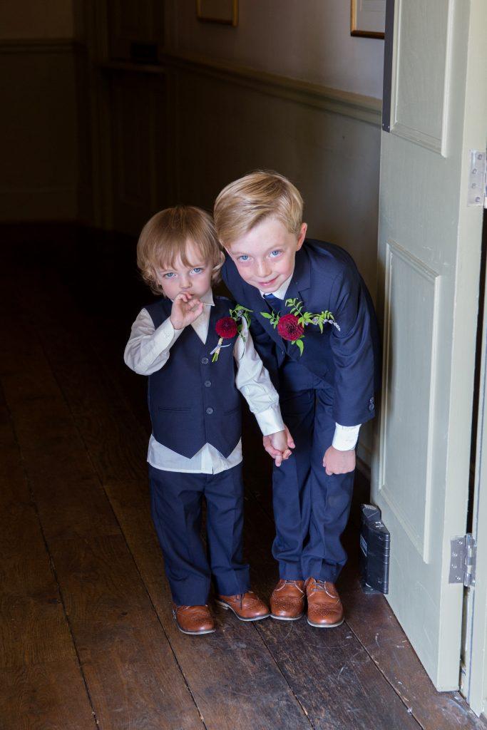 Boys wedding dahlia button holes